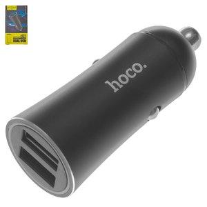 Автомобильное зарядное устройство Hoco Z30A, 2 USB выхода 5В 2,4А , черное
