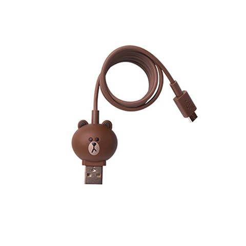 Micro USB 5 pin Smartphone Connection Cable Line Friends – Brown
