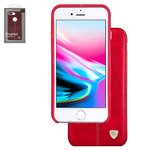 Case Nillkin Englon Leather Cover compatible with iPhone 8, (red, with logo hole, PU leather, plastic) #6902048147812