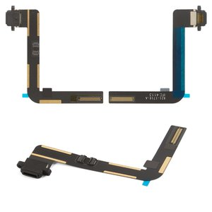 Flat Cable for Apple iPad Air (iPad 5) Tablet, (charging connector, with component, black)