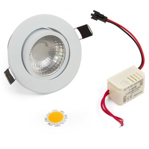 LED Downlight DIY Kit COB 3 W (warm white)