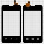 Cristal táctil Prestigio MultiPhone 3350 Duo; Explay A351, negro, #CS035X-LC3A