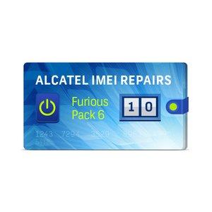 Furious PACK 6  para reparar 10 números IMEI en Alcatel