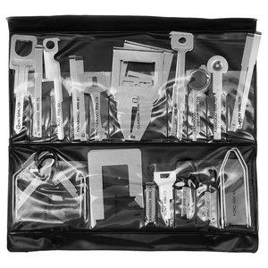 Juego de herramientas para desmontar autorradios originales y no originales (acero inoxidable, 38 uds.)