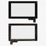"Сенсорный экран для планшетов China-Tablet PC 7""; GoClever Tab R74; Prestigio MultiPad 7.0 Ultra (PMP3370B), 7"", 187 мм, 112 мм, 51 pin, емкостный, черный, #HOTATOUCH C097162A1/DRFPC065T-V1.0/0285-V01"