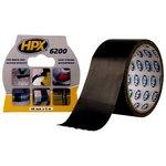Лента армированная односторонняя HPX 6200, 50 мм, 10 м, черная