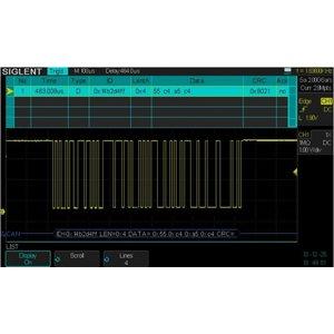 Програмне забезпечення SIGLENT SDS-2000X-DC для декодування IIC, SPI, UART/RS232, CAN, LIN