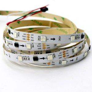 Світлодіодна стрічка RGB SMD5050, WS2811 (біла, з управлінням, IP20, 12 В, 30 діодів/м, 5 м)