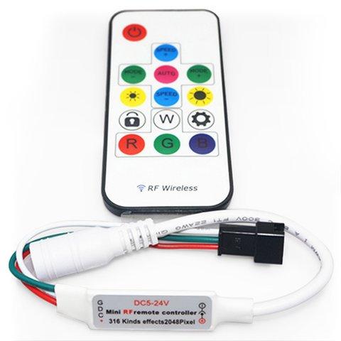 Контролер з РЧ пультом SP103E RGB, WS2801, WS2811, WS2812, WS2813 5 24 В
