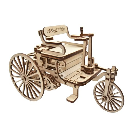 Mechanical 3D Puzzle Wood Trick First Car - /*Photo|product*/